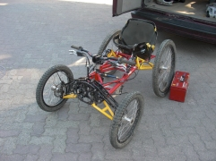 Bike buggie for paralysed riders. Thats determination for you.