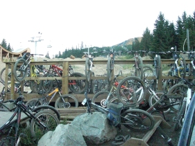 Bike parking by the bar