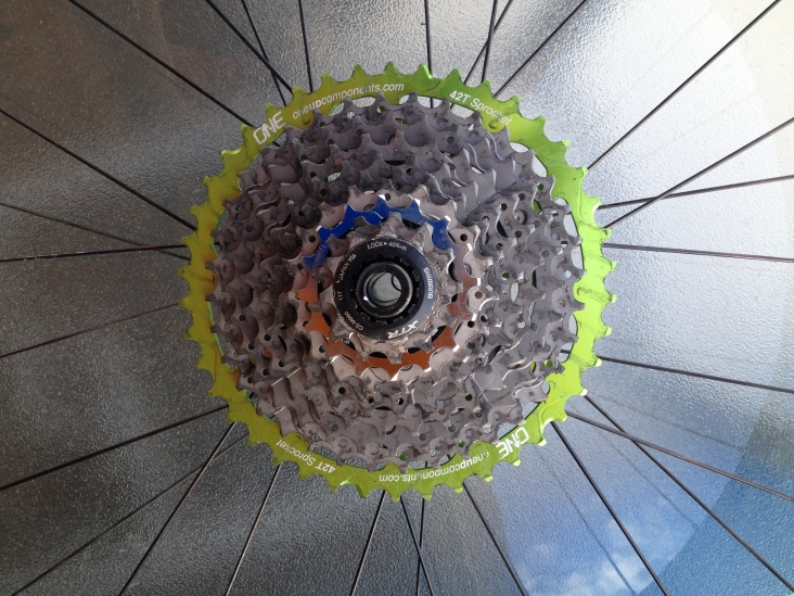 16t Cog now added to spread the gearing a little better